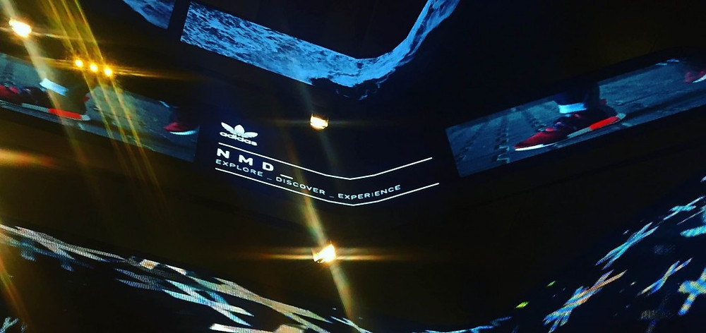Sound Identity's adventure with the famous Excelsior Milano continues with video installation of the NMD sneaker collection by Adidas Originals - sound branding, marketing, branding, audio branding, music in-store, communication agency - blog sound identity
