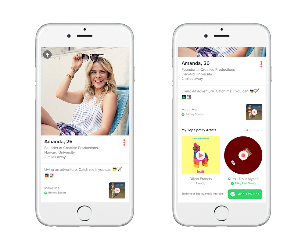 Tinder and Spotify together to find your soul mate with music - sound identity music blog