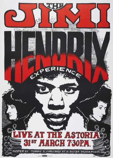 Live at Astoria #tbt 31 March 1967, the beginning of Hendrix's guitar carnage, Fender Stratocaster sells for  £250,000, promotion, advertising, marketing, branding - Blog Sound Identity