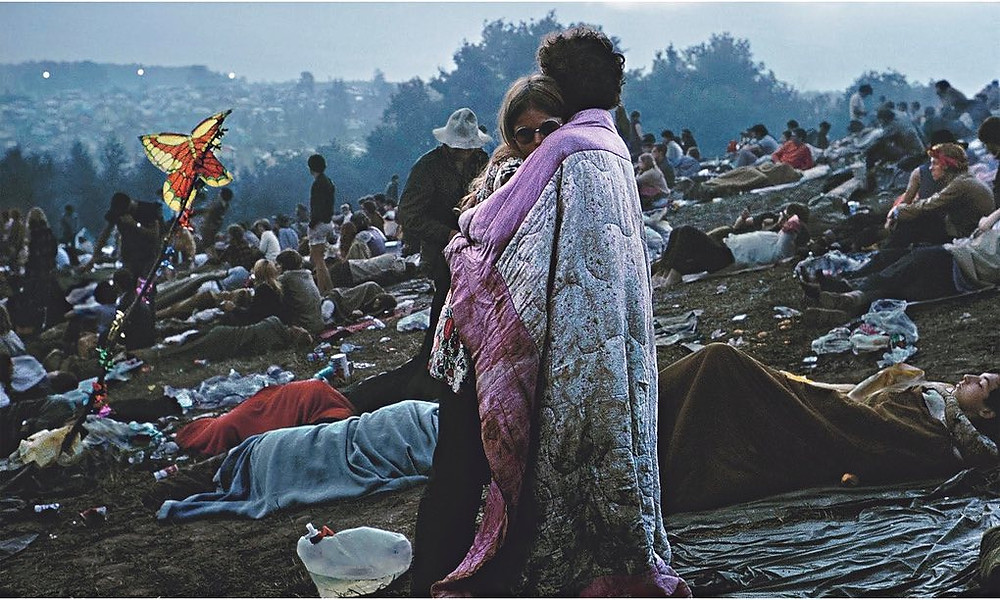 Woodstock: Music from the Original Soundtrack and More - Bobbi Ercoline and Nick. Photograph: Burk Uzzle. Cover album - tbt 11 May - sound identity music blog