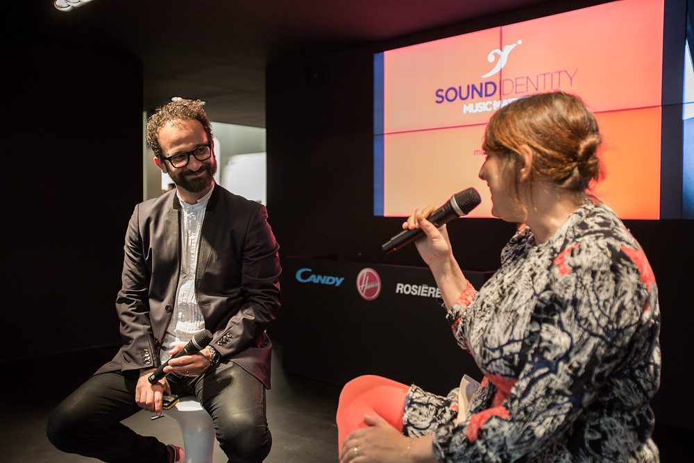 The flavour of sound - Marisa Passera and Stefano Fontana at #KitchenTalks Candy Group stand Eurocucina2016 - sound identity blog
