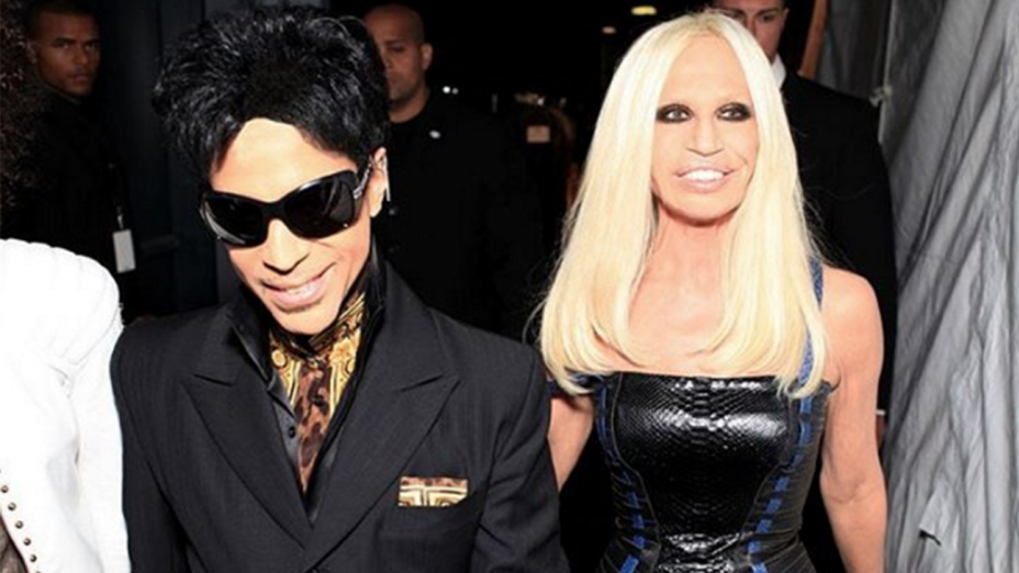 Three  months after Prince's death - #tbt Donatella Versace paid tribute to Prince, giving to the world and to the fashion industry his unreleased tracks - Blog Sound Identity post