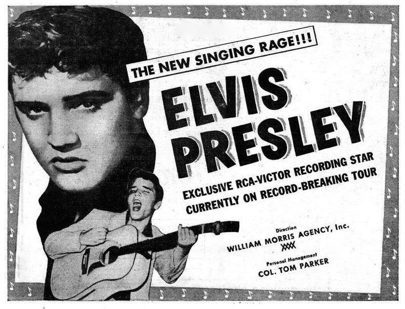 1956 RCA Records places a Elvis Presley half page ad in Billboard - marketing advert branding promotion music - Sound Identity blog
