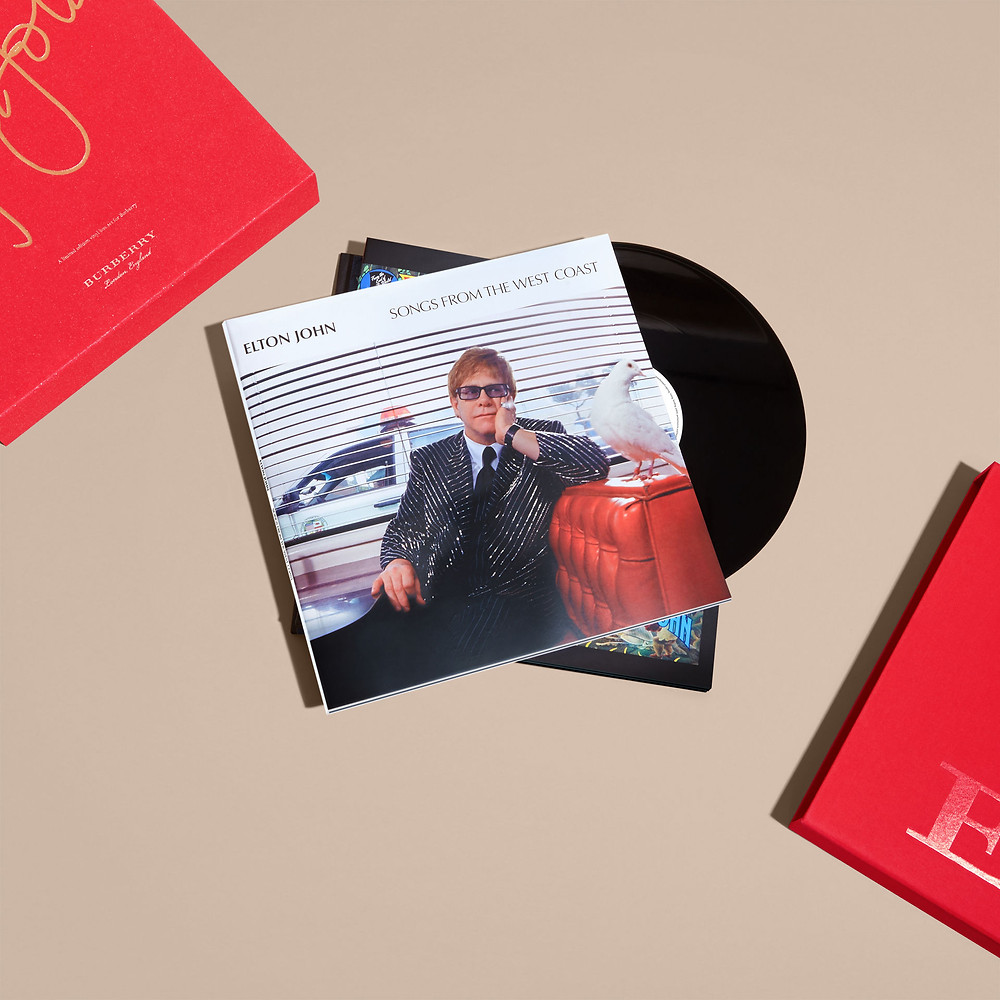 Elton John and Burberry - christmas gift set box - xmas - music gift - sound identity