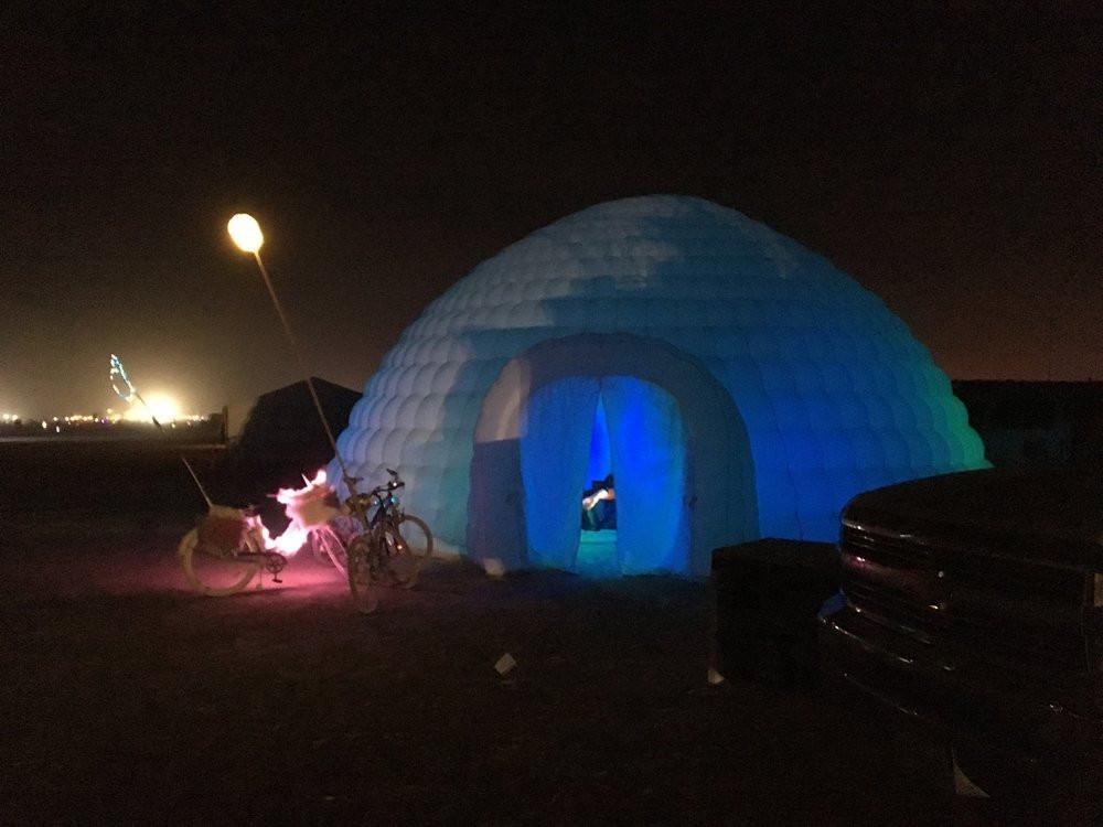 Tom Montagliano spatial sound artist - quiet sound inflatable igloo experience - art sound design sound branding audio engineering music - sound identity blog