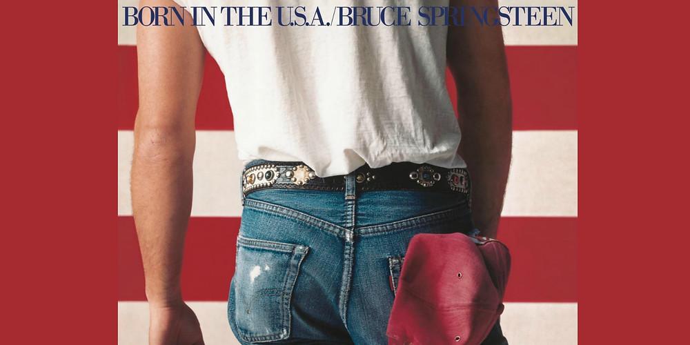 Born in the U.S.A: Music vs Politics? Bruce Springsteen best-selling album of 1985 - #tbt sound identity music blog news, sound branding sound design