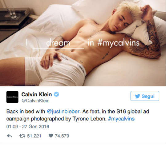 justin bieber my calvins calvin klein - #mycalvins campaign, marketing, adv, advertising, promotion, digital, viral, music star testimonial - Soundidentity blog