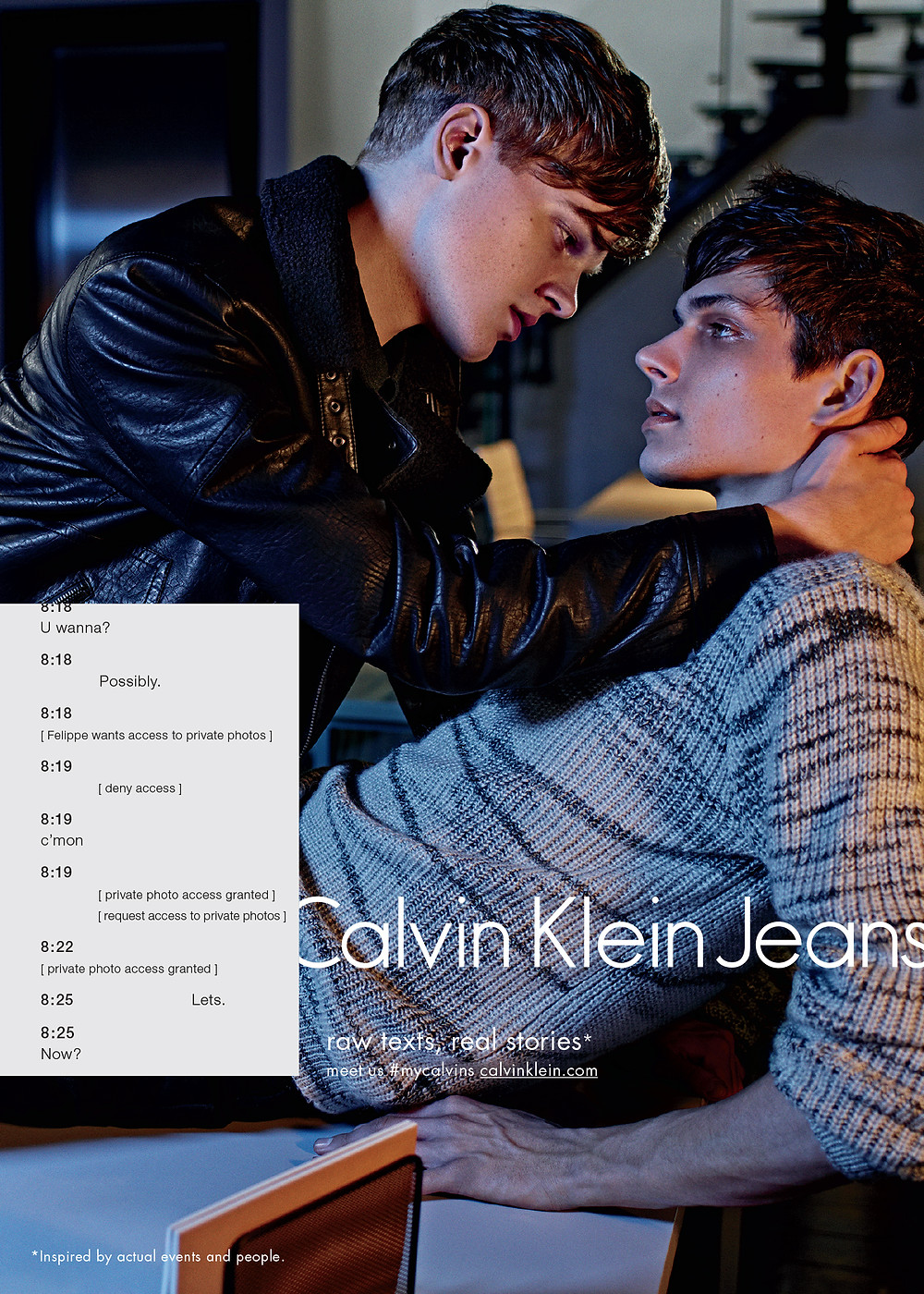 How daring brands use social media: sexting and Botticellian springs - Calvin Klein Jeans #mycalvins, advertising, campaign, marketing, viral, art. branding - Sound Identity blog