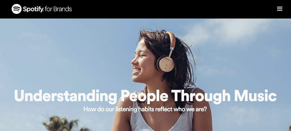 You are what you listen to and what you stream, spotify marketing
