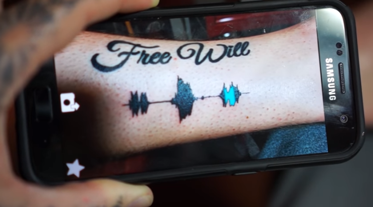Listen to the sound of tattoos with the Soundwave Tattoos   skin motion