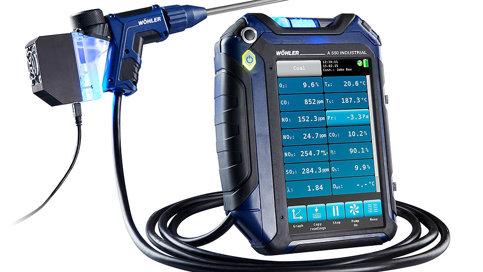 Wohler A550 Flue gas analyzer Buildingdoctor
