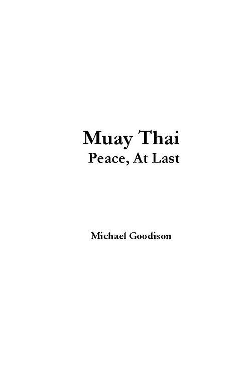E-Book - Muay Thai: Peace, At Last