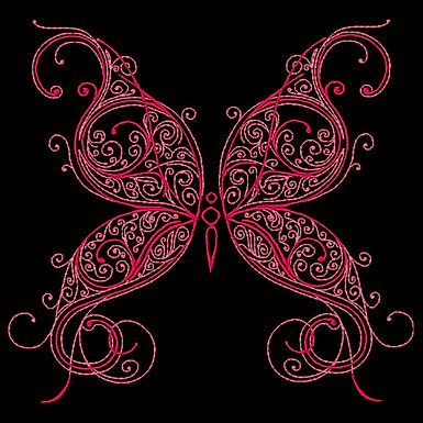 Butterfly Flourish Design 1