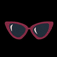 Red Sunglasses Design Image