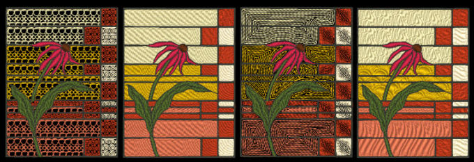 Stained Glass - Conflower Designs