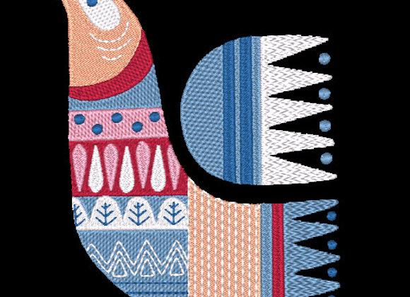 Scandie Christmas Bird 1 Design