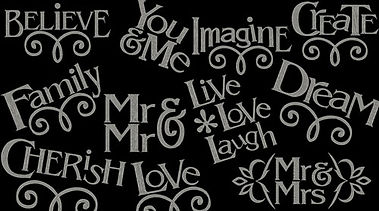 Words designs sample image