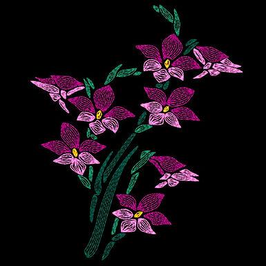 Art Nouveau Flower - Orchids