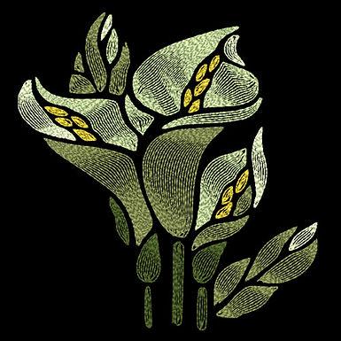 Art Nouveau Flower - Calla