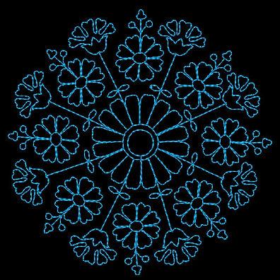 Vintage floral embroidery design image