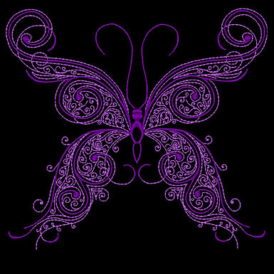 Butterfly Flourish Design 3