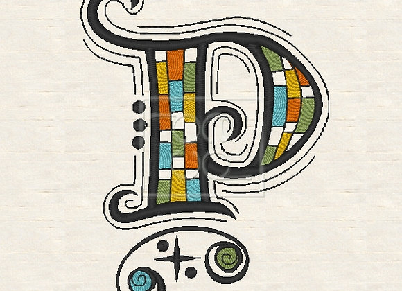 Zen Alpha Letter P