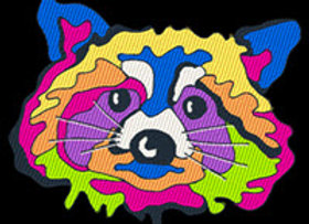Pop Art Raccoon