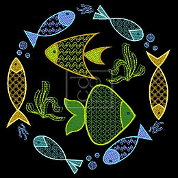 8 Fishies Design