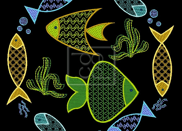 8 Fishies Design
