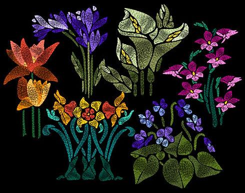 Art Nouveau Flowers Collection