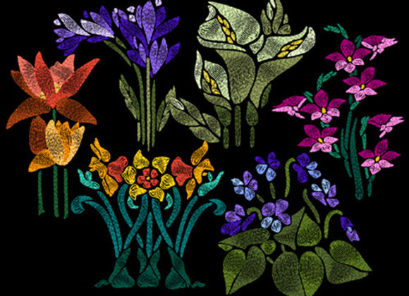 Art Nouveau Flowers Collection