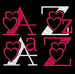 Valentine Hearts Alpha Image