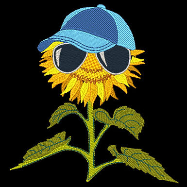 Sunflower with Glasses 4