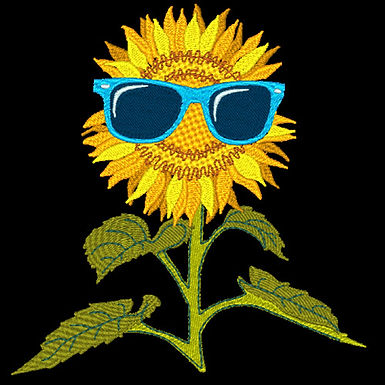 Sunflower with Glasses 1