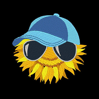 Sunflower With Glasses 4 - 4x4