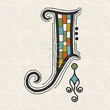 Zen Alpha Letter J