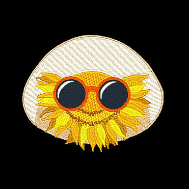 Sunflower With Glasses 2 - 4x4
