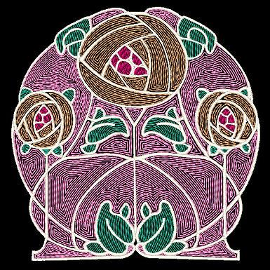 Art Nouveau Tile Design 9