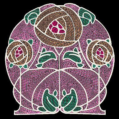 Art Nouveau Tile Design 9