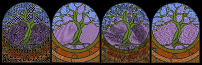 Stained Glass - Tree of Life Designs