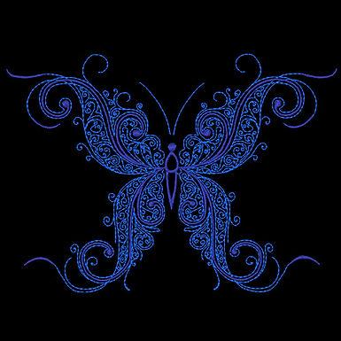 Butterfly Flourish Design 5