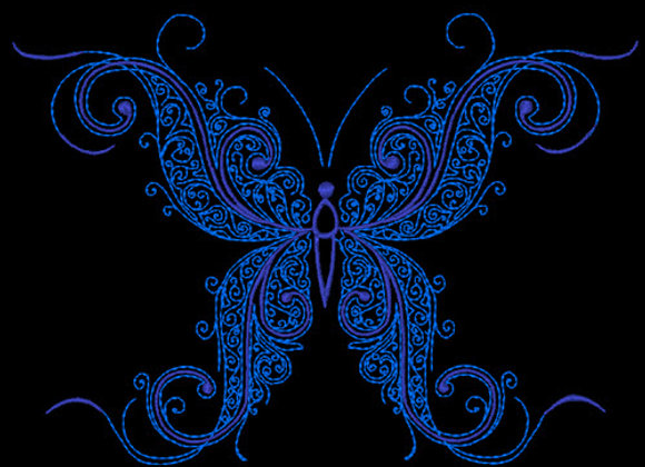 Butterfly Flourish Design 5