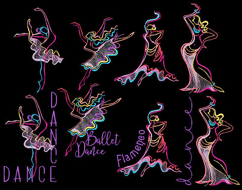 Abstract Dancers All