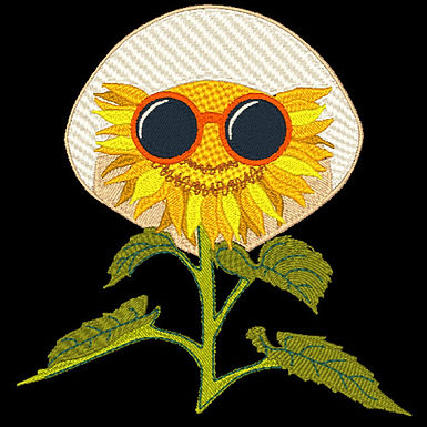 Sunflower with Glasses 2