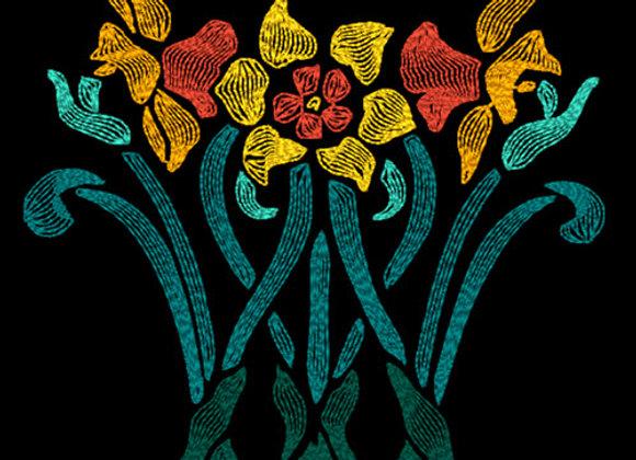 Art Nouveau Flower - Daffodils