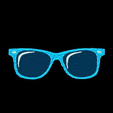 Blue Sunglasses Design Image