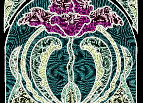 Art Nouveau Tile Design 5