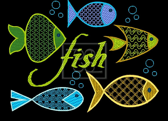 5 Fishies Design