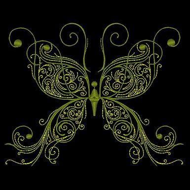 Butterfly Flourish Design 2