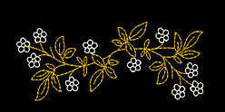 Free Vintage floral embroidery design image